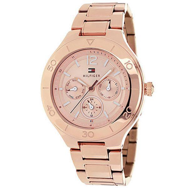Dámské růžové ocelové hodinky Tommy Hilfiger