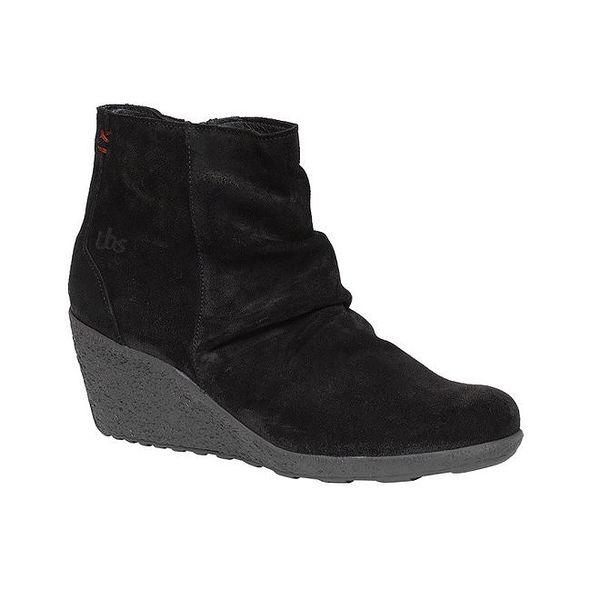 Dámské černé boty na klínku TBS