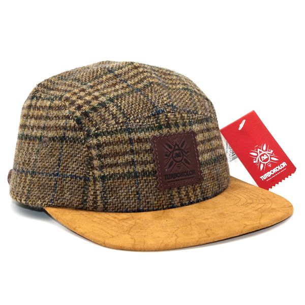 Kšiltovka Turbokolor Premium 5panel Brown Strapback