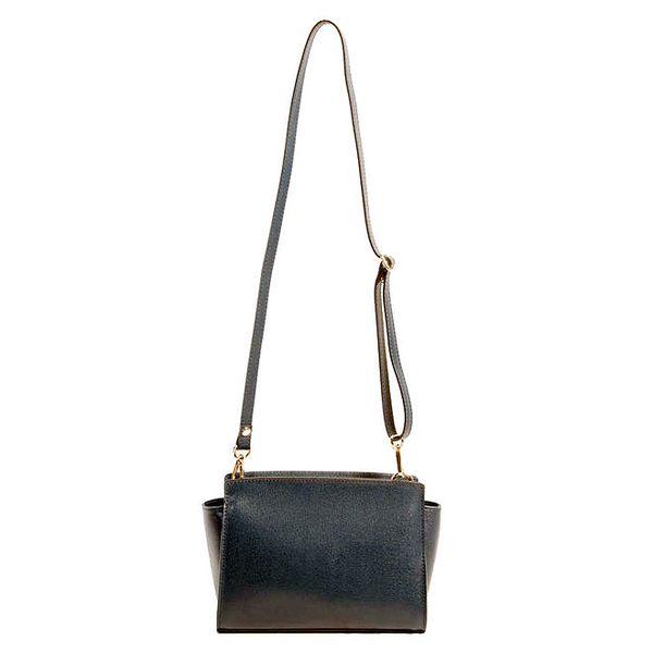 Dámská tmavomodrá minimalistická kabelka přes rameno Joana and Paola