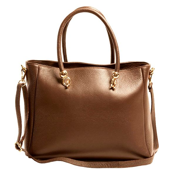 Dámská hnědá prostorná kabelka z kůže Joana and Paola