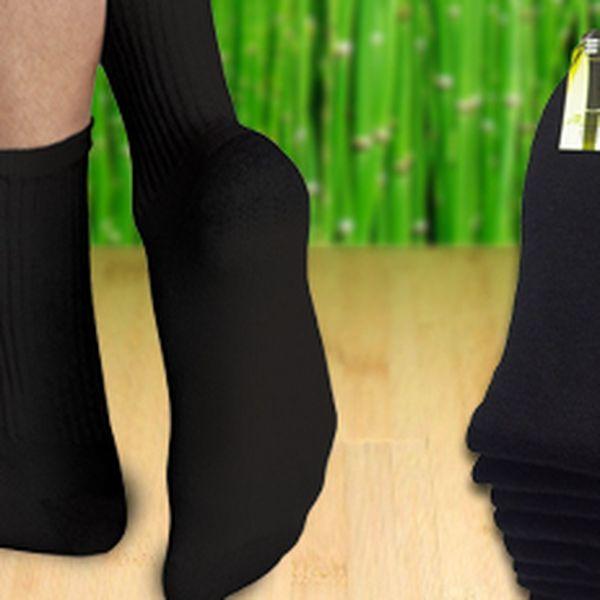 Sada 9 párů bavlněných ponožek s příměsí bambusového vlákna v černé barvě!