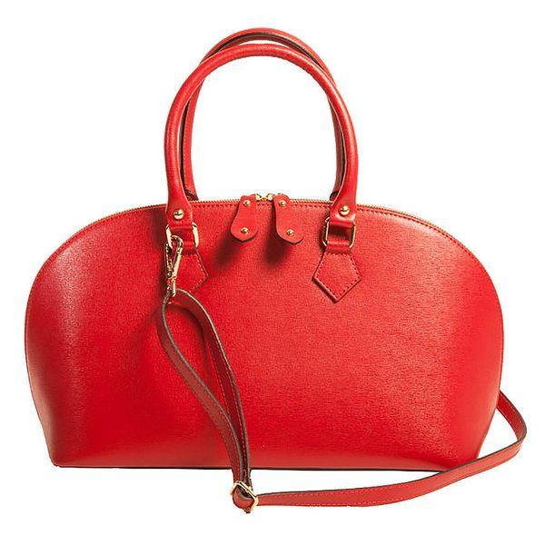 Dámská kožená kabelka Joana and Paola - červená