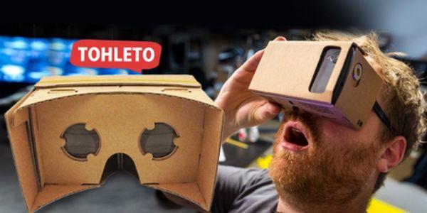 """GOOGLE CARDBOARD BRÝLE 5"""" vč. poštovného!! Zažijte virtuální realitu v pohodlí domova s Vaším Smarthphonem!"""