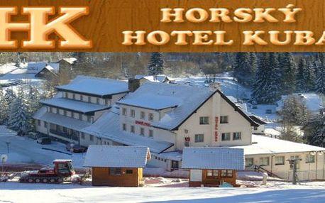 ŠUMAVA Horský hotel KUBA*** s vnitřním bazénem 3 dny s polopenzí pro 2 až do března