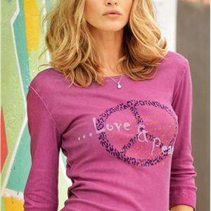 Dámské tričko s batikovaným efektem s potiskem vpředu