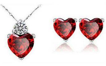 Set náušnic a náhrdelníku z pravého stříbra!