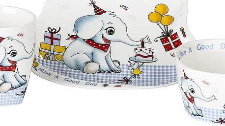 Sada dětského porcelánového nádobí s motivem slona