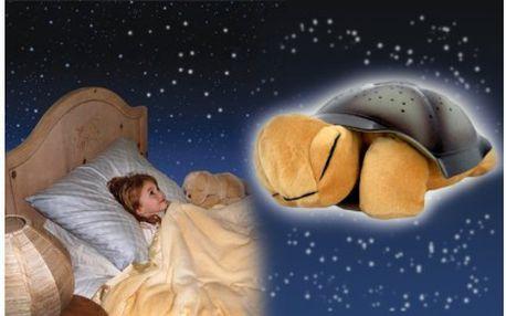 Hrající a svítící magická želva promění každý večer dětský pokoj i ložnici či jinou místnost v kouzelný ráj s nebem posetým hvězdami.