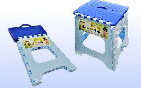 Skládací plastová stolička - modrá