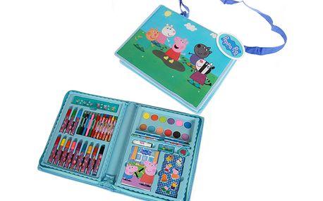 Velký kreativní set psacích potřeb v plastovém kufříku