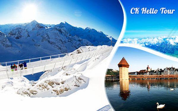Visutý most na Titlisu a odpolední Luzern