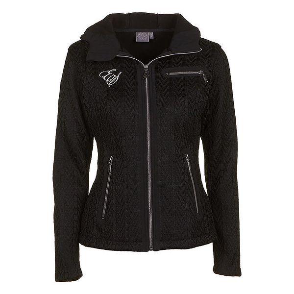 Dámská černá bunda s kapucí E2ko