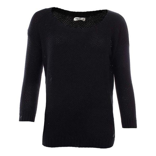 Dámský černý svetr s kulatým výstřihem Timeout