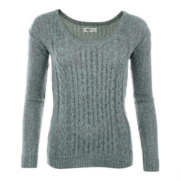 Dámský šedý svetr s jemným vzorem Timeout