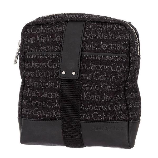 Pánská tmavě hnědá taška s nápisy Calvin Klein Jeans