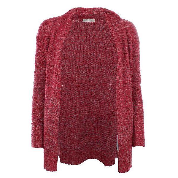 Dámský červený svetr bez zapínání Timeout