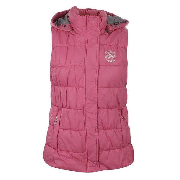 Dámská růžová vesta s kapucí Timeout