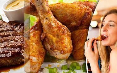 600g šťavnatého masa pro dva v centru Prahy v restauraci Sklípek U Munků. Vepřové a kuřecí steaky, naložená kuřecí stehýnka s chlebem, křenem a domácí česnekovou omáčkou. Neváhejte a využijte skvělé nabídky a pochutnejte si na prkénku plného masa.