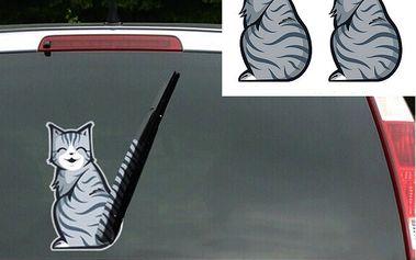 Kočičí samolepka na stěrač!
