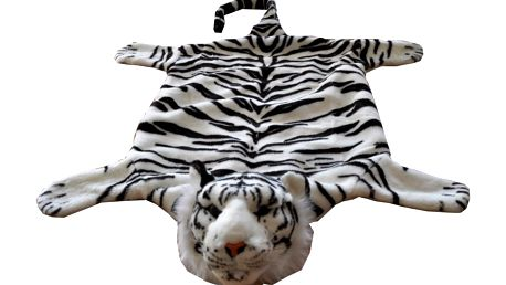 VOPI - Plyšový tygr bílý 3D - 50 x 85 cm