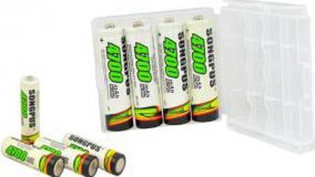4ks tužkové nabíjecí baterie AA kapacita 4700 mAh