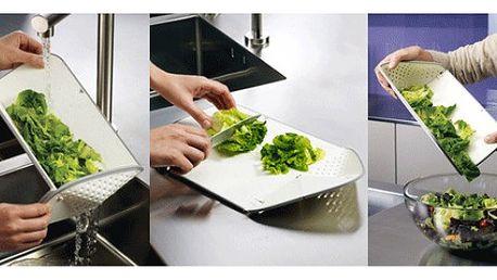 Skládací kuchyňské prkénko s cedníkem!