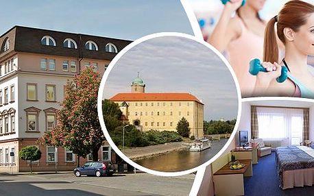Pobyt pro 2 osoby na 3 dny v hotelu Juniorv Poděbradech s polopenzí, lahví vína a vstupem do fitness