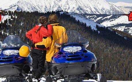 Valentýnská projížďka na sněžných skútrech s přípitkem (90 min)