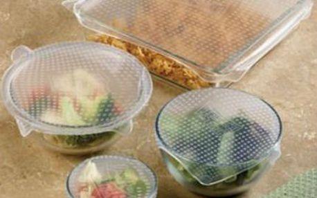 Skladování potravin: Stretch and Fresh silikonové poklice