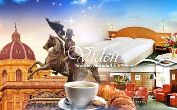 Luxusní 3 nebo 4denní pobyt se snídaní v centru Vídně ve 4* Hotelu Tourotel Mariahilf pro 2 osoby!