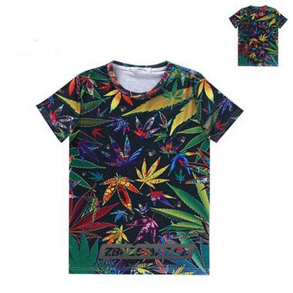 Pánské květinové tričko Lorenz - marihuana, narcisy a třešňové květy!