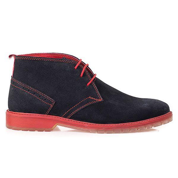 Pánské modré kotníkové boty s růžovou podrážkou Crash Shoes
