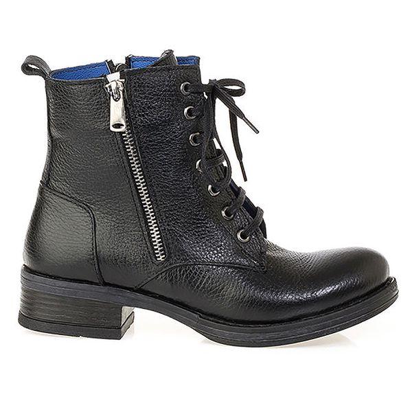 Dámské černé kotníkové boty se zipem Crash Shoes