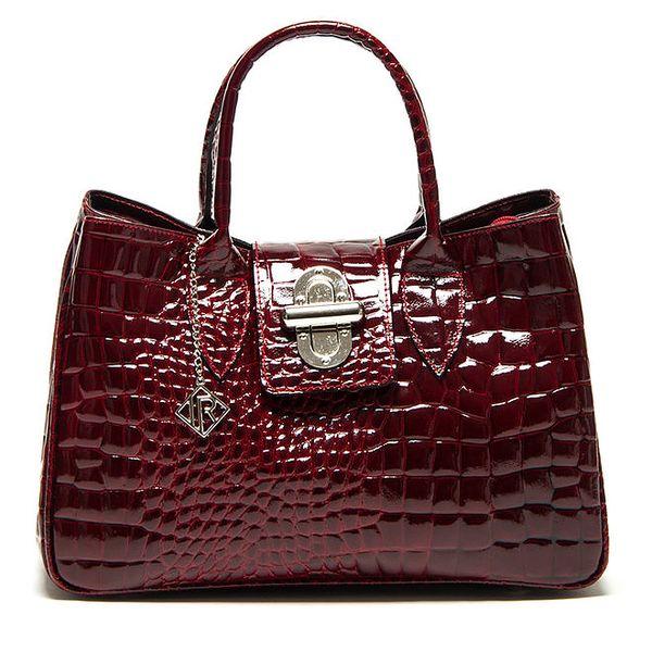 Dámská červená lesklá kabelka se vzorem Isabella Reha