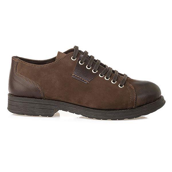 Pánské hnědé šněrovací boty z kůže Crash Shoes
