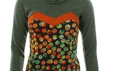 Dámské zelené tričko s oranžovými detaily Purple Jam