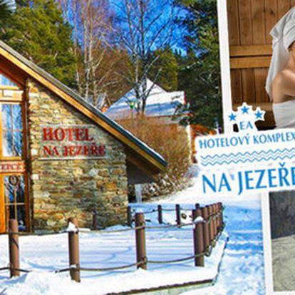 Zimní relaxace se saunou pro dva v hotelu u Lipna