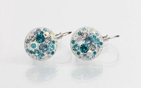 Dámské náušnice s azurovými krystaly Laura Bruni