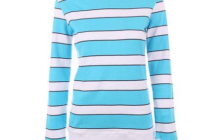 Dámské bílo-modře pruhované tričko Authority
