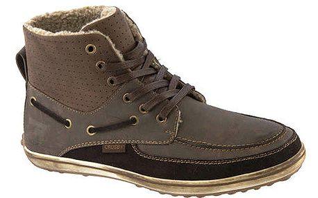 Pánské hnědé kotníkové boty se zateplením Crosby
