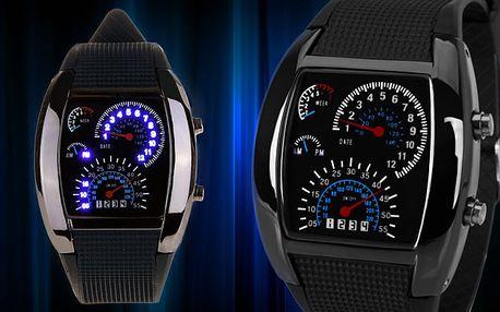 Sportovní LED binární hodinky