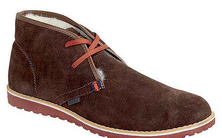 Pánské hnědé zateplené kotníkové boty Crosby