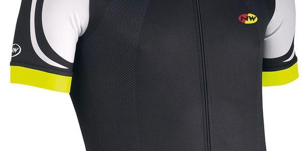 Pánský cyklistický dres Northwave Logo black/white/yellow fluo