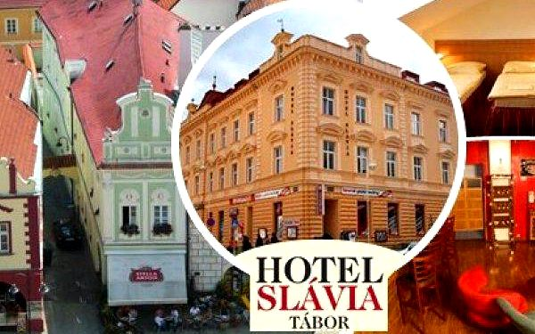 Pobyt v srdci jižních Čech v hotelu Slávia Tábor pro 2 osoby na 3 dny s bohatými snídaněmi, lahví vína, kávou a zákuskem. Děti do 6 let zdarma! Užijte si dovolenou ve městě se slavnou historií a nádhernou přírodou a spoustou zajímavostí v okolí!