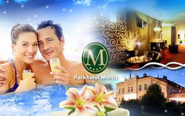 Romantický WELLNESS pobyt na 3 dny pro DVA s privátní vířivkou a galavečeří ve 4* luxusním Parkhotelu Morris!