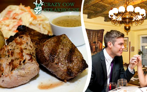 Mix Grill pro dva ve steakhouse Crazy Cow