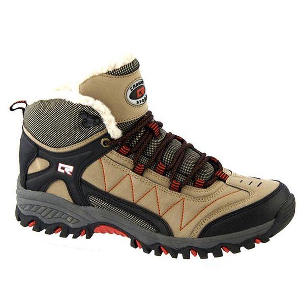 Pánské béžové zimní šněrovací boty Crosby