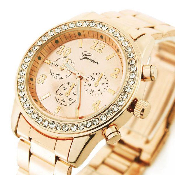 Dámské hodinky Geneva, které září na dálku