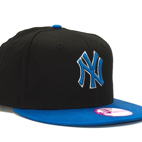 Dámská Kšiltovka New Era Glittery New York Yankees Black/Blue Snapback